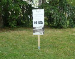 Panneau de l'ancien bassin.